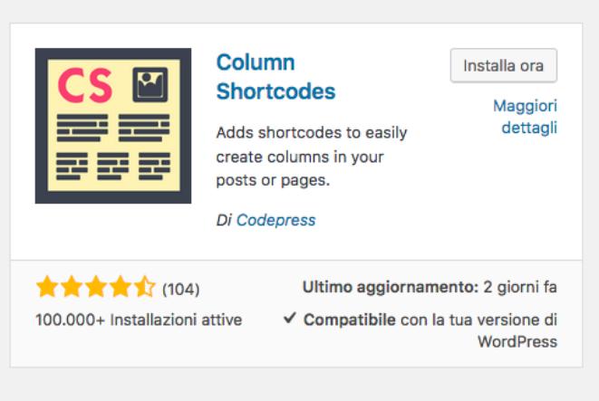 Plugin Column Shortcodes