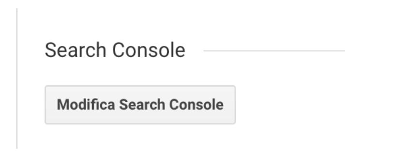 Collegamento con Search Console Google Analytics